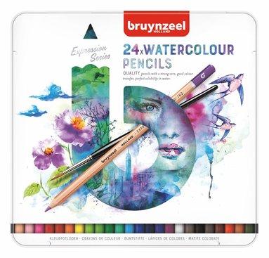 Akvarellpenna Expression 24 färger m pensel