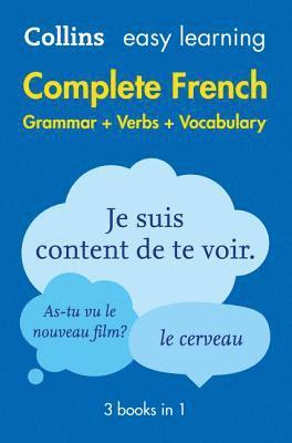 bokomslag Easy Learning French Complete Grammar, Verbs and Vocabulary (3 books in 1)