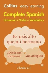 bokomslag Easy Learning Spanish Complete Grammar, Verbs and Vocabulary (3 books in 1)