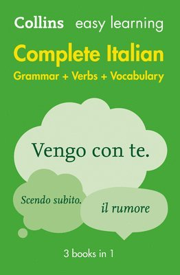 bokomslag Easy Learning Italian Complete Grammar, Verbs and Vocabulary (3 books in 1)
