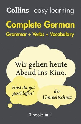 bokomslag Easy Learning German Complete Grammar, Verbs and Vocabulary (3 books in 1)