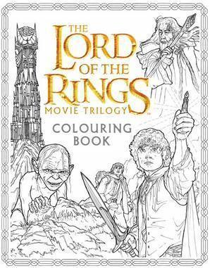 bokomslag The Lord of the Rings Movie Trilogy Colouring Book
