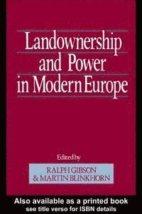 bokomslag Landownership and Power in Modern Europe