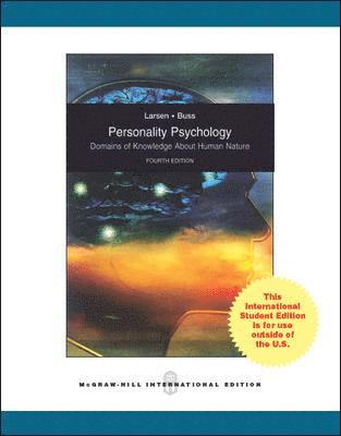 bokomslag Personality Psychology: Domains of Knowledge About Human Nature