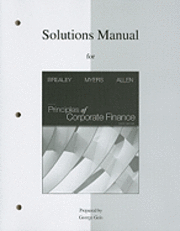bokomslag Solutions Manual for Principles of Corporate Finance