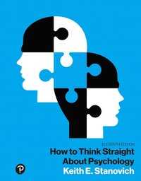 bokomslag How to Think Straight About Psychology, Books a la Carte