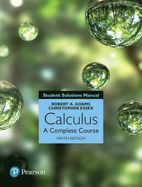 bokomslag Student Solutions Manual for Calculus: A Complete Course