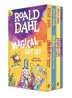 bokomslag Roald Dahl Magical Gift Set (4 Books): Charlie and the Chocolate Factory, James and the Giant Peach, Fantastic Mr. Fox, Charlie and the Great Glass El