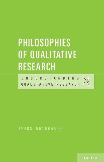 bokomslag Philosophies of Qualitative Research