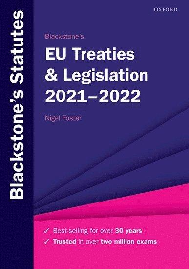 Blackstone's EU Treaties & Legislation 2021-2022 1