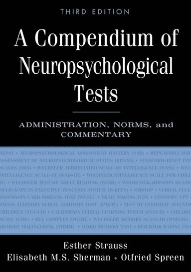 bokomslag A Compendium of Neuropsychological Tests: Administration, Norms, and Commentary