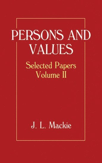 Selected Papers: Volume II: Persons and Values 1