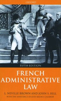 bokomslag French Administrative Law
