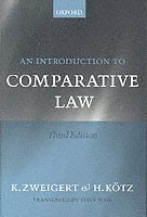 bokomslag An Introduction to Comparative Law