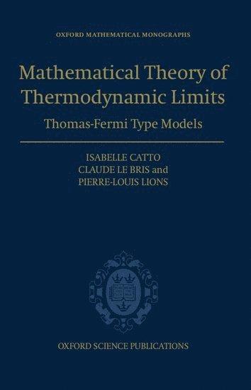 bokomslag Mathematical Theory of Thermodynamic Limits