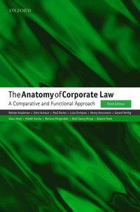 bokomslag The Anatomy of Corporate Law: A Comparative and Functional Approac