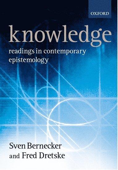 bokomslag Knowledge: Readings in Contemporary Epistemology