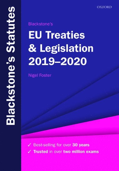 bokomslag Blackstone's EU Treaties & Legislation 2019-2020