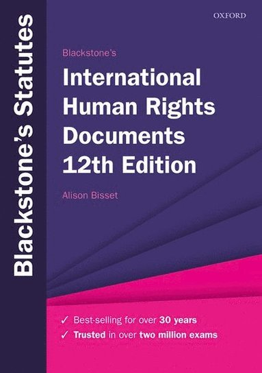 bokomslag Blackstone's International Human Rights Documents