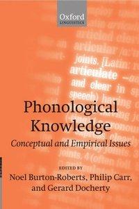 bokomslag Phonological Knowledge