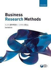 bokomslag Business Research Methods