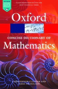 bokomslag Concise oxford dictionary of mathematics