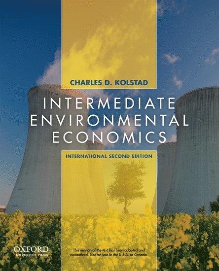 Intermediate environmental economics - international edition 1