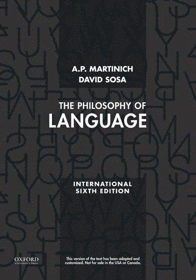 The Philosophy of Language 1