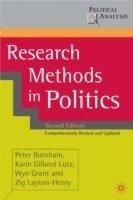 bokomslag Research Methods in Politics