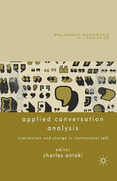 bokomslag Applied Conversation Analysis