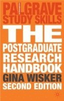 bokomslag Postgraduate research handbook - succeed with your ma, mphil, edd and phd