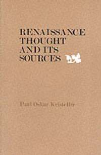 bokomslag Renaissance Thought and its Sources