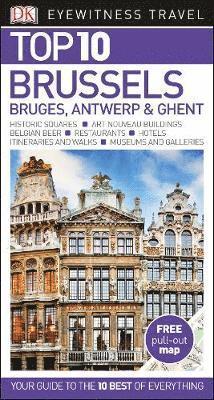 bokomslag Brussels, Bruges, Antwerp & Ghent Top 10