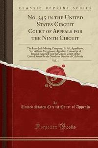 bokomslag No. 345 in the United States Circuit Court of Appeals for the Ninth Circuit, Vol. 1