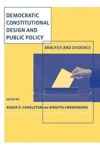 bokomslag Democratic Constitutional Design and Public Policy
