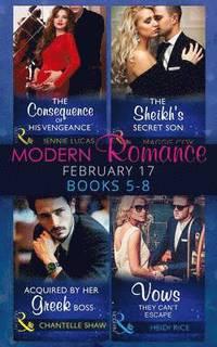 bokomslag Modern Romance February Books 5-8: Books 5-8