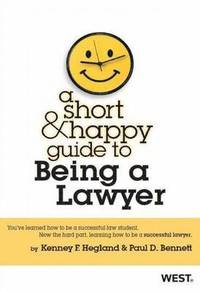 bokomslag A Short and Happy Guide to Being a Lawyer