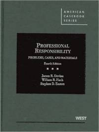 bokomslag Problems, Cases and Materials on Professional Responsibility