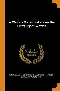 bokomslag Week's Conversation On The Plurality Of Worlds
