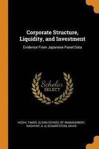 bokomslag Corporate Structure, Liquidity, and Investment