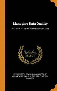 bokomslag Managing Data Quality