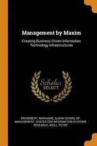 bokomslag Management by Maxim