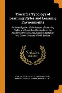 bokomslag Toward a Typology of Learning Styles and Learning Environments
