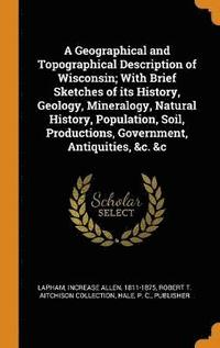 bokomslag A Geographical and Topographical Description of Wisconsin; With Brief Sketches of Its History, Geology, Mineralogy, Natural History, Population, Soil, Productions, Government, Antiquities, &;c. &;c