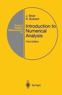 bokomslag Introduction to Numerical Analysis