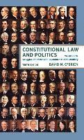 bokomslag Constitutional Law and Politics: Struggles for Power and Governmental Accountability