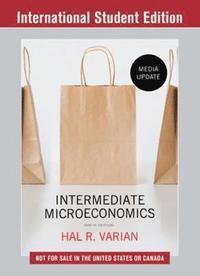 bokomslag Intermediate Microeconomics: A Modern Approach: Media Update