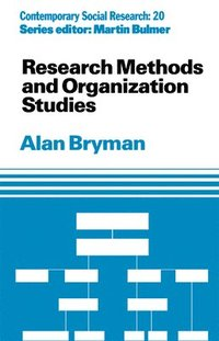 bokomslag Research Methods and Organization Studies