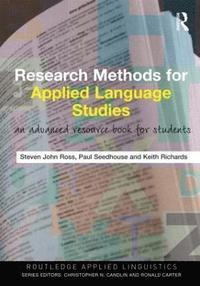 bokomslag Research Methods for Applied Language Studies