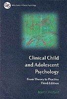 bokomslag Clinical Child and Adolescent Psychology